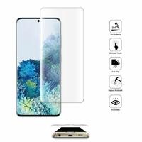 "Samsung Galaxy S20+ Plus/ S20+ 5G 6.7"" SM-G985 G985F SM-G986 (non compatible Galaxy S20 6.2""/ S20 Ultra 6.9""): 1 Film en Verre Trempé Bord Incurvé Resistant"