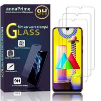 """Samsung Galaxy M31 6.4"""" SM-M315F M315F/DS M315F/DSN [Les Dimensions EXACTES du telephone: 159.2 x 75.1 x 8.9 mm]: Lot / Pack de 3 Films de protection d'écran Verre Trempé"""