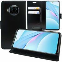 "Xiaomi Mi 10T Lite 5G/ 10T Lite 6.67"" M2007J17G (non compatible Xiaomi Mi 10 Lite 5G 6.57""): Etui portefeuille Support Video cuir PU - NOIR"