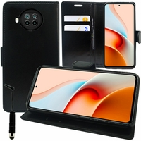 """Xiaomi Redmi Note 9 Pro 5G 6.67"""" M2007J17C (non compatible Xiaomi Redmi Note 9/ Note 9 Pro): Etui portefeuille Support Video cuir PU + mini Stylet - NOIR"""