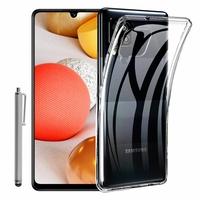 """Samsung Galaxy A42 5G 6.6"""" SM-A426B SM-A426B/DS [Les Dimensions EXACTES du telephone: 164.4 x 75.9 x 8.6 mm]: Coque Silicone gel UltraSlim et Ajustement parfait + Stylet - TRANSPARENT"""