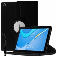 "Huawei MatePad T10S/ T 10s/ T10 10.1"" AGS3-L09 AGS3-W09 [Les Dimensions EXACTES du Tablette: 240.2 x 159 x 7.9 mm]: Etui Cuir PU Support Rotatif 360° + mini Stylet - NOIR"