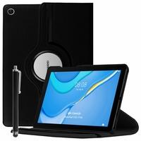 "Huawei MatePad T10S/ T 10s/ T10 10.1"" AGS3-L09 AGS3-W09 [Les Dimensions EXACTES du Tablette: 240.2 x 159 x 7.9 mm]: Etui Cuir PU Support Rotatif 360° + Stylet - NOIR"