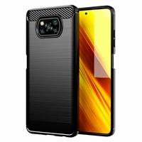 """Xiaomi Poco X3 NFC/ Poco X3 6.67"""" M2007J20CG M2007J20CT MZB07Z0IN MZB07Z1IN MZB07Z2IN MZB07Z3IN MZB07Z4IN MZB9965IN M2007J20CI: Coque Silicone TPU Fibre de Carbone Brossé - NOIR"""