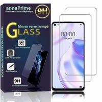 """Huawei Nova 7 SE 5G Youth 6.5"""" CND-AN00 [Les Dimensions EXACTES du telephone: 162.3 x 75 x 8.6 mm]: Lot / Pack de 2 Films de protection d'écran Verre Trempé"""
