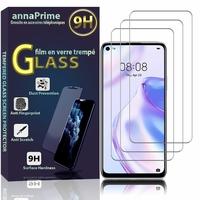 """Huawei Nova 7 SE 5G Youth 6.5"""" CND-AN00 [Les Dimensions EXACTES du telephone: 162.3 x 75 x 8.6 mm]: Lot / Pack de 3 Films de protection d'écran Verre Trempé"""