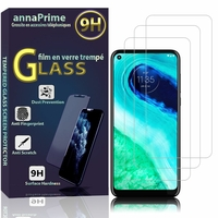 "Motorola Moto G Fast 6.4"" XT2045-3 [Les Dimensions EXACTES du telephone: 161.9 x 75.7 x 9.1 mm]: Lot / Pack de 3 Films de protection d'écran Verre Trempé"