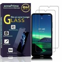 """Nokia 1.4 6.52"""" [Les Dimensions EXACTES du telephone: 166.4 x 76.7 x 8.7 mm]: Lot / Pack de 2 Films de protection d'écran Verre Trempé"""