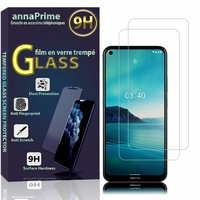 """Nokia 3.4 6.39"""" TA-1288 TA-1285 TA-1283 [Les Dimensions EXACTES du telephone: 161 x 76 x 8.7 mm]: Lot / Pack de 2 Films de protection d'écran Verre Trempé"""