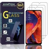 "Oppo A73 4G/ Oppo F17 6.44"" CPH2095 (non compatible Oppo A73 5G 6.5""/ Oppo F17 Pro 6.43""): Lot / Pack de 3 Films de protection d'écran Verre Trempé"