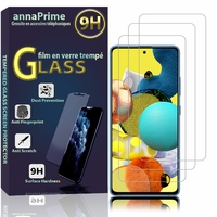 """Samsung Galaxy A51 5G UW 6.5"""" SM-A516V (non compatible Galaxy A51 2019) [Les Dimensions EXACTES du telephone: 158.8 x 73.4 x 8.6 mm]: Lot / Pack de 3 Films de protection d'écran Verre Trempé"""