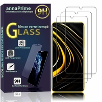 "Xiaomi Poco M3 6.53"" M2010J19CG M2010J19CT [Les Dimensions EXACTES du telephone: 162.3 x 77.3 x 9.6 mm]: Lot / Pack de 3 Films de protection d'écran Verre Trempé"