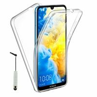 """Honor 8S 2020 5.71"""" KSA-LX9 [Les Dimensions EXACTES du telephone: 147.1 x 70.8 x 8.5 mm]: Coque Avant et Arrière Silicone 360° protection intégrale  + mini Stylet - TRANSPARENT"""