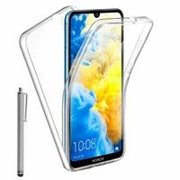 """Honor 8S 2020 5.71"""" KSA-LX9 [Les Dimensions EXACTES du telephone: 147.1 x 70.8 x 8.5 mm]: Coque Avant et Arrière Silicone 360° protection intégrale  + Stylet - TRANSPARENT"""