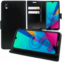 """Honor 8S 2020 5.71"""" KSA-LX9 [Les Dimensions EXACTES du telephone: 147.1 x 70.8 x 8.5 mm]: Etui portefeuille Support Video cuir PU - NOIR"""