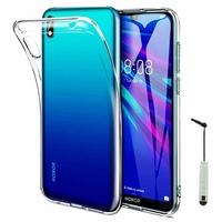 """Honor 8S 2020 5.71"""" KSA-LX9 [Les Dimensions EXACTES du telephone: 147.1 x 70.8 x 8.5 mm]: Coque Silicone gel UltraSlim et Ajustement parfait + mini Stylet - TRANSPARENT"""