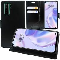 "Huawei Nova 7 SE 5G Youth 6.5"" CND-AN00 [Les Dimensions EXACTES du telephone: 162.3 x 75 x 8.6 mm]: Etui portefeuille Support Video cuir PU - NOIR"