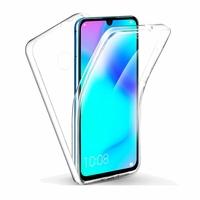 """Huawei P30 Lite New Edition/ P30 Lite 2020 6.15"""" MAR-L21BX (non compatible Huawei P30/ P30 Pro): Coque Avant et Arrière Silicone 360° protection intégrale  - TRANSPARENT"""