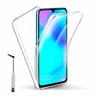 """Huawei P30 Lite New Edition/ P30 Lite 2020 6.15"""" MAR-L21BX (non compatible Huawei P30/ P30 Pro): Coque Avant et Arrière Silicone 360° protection intégrale  + mini Stylet - TRANSPARENT"""