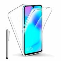 """Huawei P30 Lite New Edition/ P30 Lite 2020 6.15"""" MAR-L21BX (non compatible Huawei P30/ P30 Pro): Coque Avant et Arrière Silicone 360° protection intégrale  + Stylet - TRANSPARENT"""