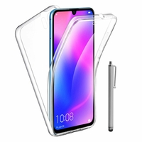 """Huawei P30 Pro New Edition/ P30 Pro 2020 6.47"""" VOG-L29 (non compatible Huawei P30/ P30 Lite): Coque Avant et Arrière Silicone 360° protection intégrale  + mini Stylet - TRANSPARENT"""