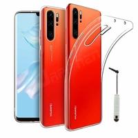 """Huawei P30 Pro New Edition/ P30 Pro 2020 6.47"""" VOG-L29 (non compatible Huawei P30/ P30 Lite): Coque Silicone gel UltraSlim et Ajustement parfait + mini Stylet - TRANSPARENT"""