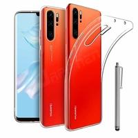 """Huawei P30 Pro New Edition/ P30 Pro 2020 6.47"""" VOG-L29 (non compatible Huawei P30/ P30 Lite): Coque Silicone gel UltraSlim et Ajustement parfait + Stylet - TRANSPARENT"""