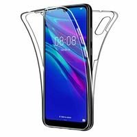 """Huawei Y6S (2019)/ Honor 8A 2020/ 8A Prime 6.09"""" JAT-LX3 JAT-L29 JAT-LX1 JAT-L41[Les Dimensions EXACTES du telephone: 156.3 x 73.5 x 8 mm]: Coque Avant et Arrière Silicone 360° protection intégrale  - TRANSPARENT"""