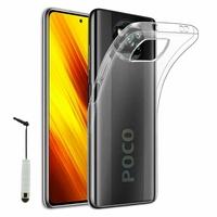"""Xiaomi Poco X3 NFC/ Poco X3 6.67"""" M2007J20CG M2007J20CT MZB07Z0IN MZB07Z1IN MZB07Z2IN MZB07Z3IN MZB07Z4IN MZB9965IN M2007J20CI: Coque Silicone gel UltraSlim et Ajustement parfait + mini Stylet - TRANSPARENT"""