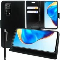"""Xiaomi Redmi K30S 6.67"""" M2007J3SC (non compatible Xiaomi Redmi K30) [Les Dimensions EXACTES du telephone: 165.1 x 76.4 x 9.3 mm]: Etui portefeuille Support Video cuir PU + Stylet - NOIR"""