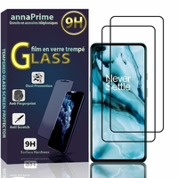 """OnePlus Nord/ OnePlus 8 Nord 5G/ OnePlus Z 6.44"""" AC2001 AC2003 [Les Dimensions EXACTES du telephone: 158.3 x 73.3 x 8.2 mm]: Lot / Pack de 2 Films de protection d'écran Verre Trempé"""
