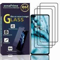 """OnePlus Nord/ OnePlus 8 Nord 5G/ OnePlus Z 6.44"""" AC2001 AC2003 [Les Dimensions EXACTES du telephone: 158.3 x 73.3 x 8.2 mm]: Lot / Pack de 3 Films de protection d'écran Verre Trempé"""