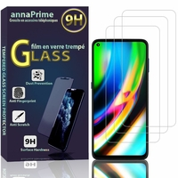 "Motorola Moto G9 Plus 6.81"" XT2087-1 (non compatible Motorola Moto G9/ G9 Play 6.5"") [Les Dimensions EXACTES du telephone: 170 x 78.1 x 9.7 mm]: Lot / Pack de 3 Films de protection d'écran Verre Trempé"