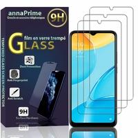 """Oppo A15/ A15S 6.52"""" CPH2185 CPH2179 [Les Dimensions EXACTES du telephone: 164 x 75.4 x 7.9 mm]: Lot / Pack de 3 Films de protection d'écran Verre Trempé"""
