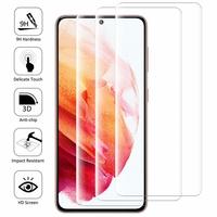 """Samsung Galaxy S21 5G 6.2"""" SM-G991 G991B G991B/DS G991U (non compatible Galaxy S21+ 5G/ S21 Plus 5G 6.7""""): Lot/ Pack de 3 Films en Verre Trempé Bord Incurvé Resistant"""