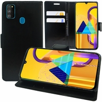 """Samsung Galaxy M30S 6.4"""" SM-M307F/DS M307FN/DS (non compatible Galaxy M30): Etui portefeuille Support Video cuir PU - NOIR"""