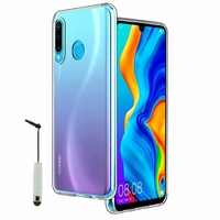 """Huawei P30 Lite New Edition/ P30 Lite 2020 6.15"""" MAR-L21BX (non compatible Huawei P30/ P30 Pro): Coque Silicone gel UltraSlim et Ajustement parfait + mini Stylet - TRANSPARENT"""