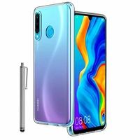 """Huawei P30 Lite New Edition/ P30 Lite 2020 6.15"""" MAR-L21BX (non compatible Huawei P30/ P30 Pro): Coque Silicone gel UltraSlim et Ajustement parfait + Stylet - TRANSPARENT"""