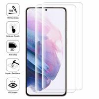 """Samsung Galaxy S21+ 5G/ S21 Plus 5G 6.7"""" SM-G996B G996B/DS (non compatible Galaxy S21 5G 6.2""""/ S21 Ultra 5G 6.8""""): Lot/ Pack de 2 Films en Verre Trempé Bord Incurvé Resistant"""