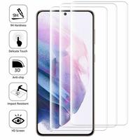 """Samsung Galaxy S21+ 5G/ S21 Plus 5G 6.7"""" SM-G996B G996B/DS (non compatible Galaxy S21 5G 6.2""""/ S21 Ultra 5G 6.8""""): Lot/ Pack de 3 Films en Verre Trempé Bord Incurvé Resistant"""