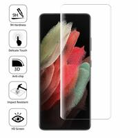 "Samsung Galaxy S21 Ultra 5G 6.8"" SM-G998B G998B/DS (non compatible Galaxy S21 5G 6.2""/ Galaxy S21+ 5G 6.7""): 1 Film en Verre Trempé Bord Incurvé Resistant"