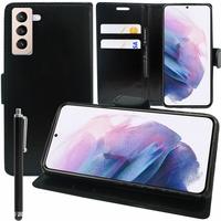 "Samsung Galaxy S21+ 5G/ S21 Plus 5G 6.7"" SM-G996B G996B/DS (non compatible Galaxy S21 5G 6.2""/ S21 Ultra 5G 6.8""): Etui portefeuille Support Video cuir PU + Stylet - NOIR"