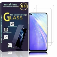 "Realme 6/ 6S/ 6i (India)/ Realme Narzo 6.5"" RMX2001 RMX2002 (non compatible Realme 6 Pro/ Realme 6i (Global)): Lot / Pack de 2 Films de protection d'écran Verre Trempé"