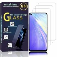 "Realme 6/ 6S/ 6i (India)/ Realme Narzo 6.5"" RMX2001 RMX2002 (non compatible Realme 6 Pro/ Realme 6i (Global)): Lot / Pack de 3 Films de protection d'écran Verre Trempé"