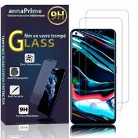 """Realme 7 Pro 6.4"""" RMX2170 (non compatible Realme 7/ 7 5G/ 7i): Lot / Pack de 2 Films de protection d'écran Verre Trempé"""