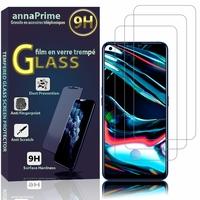 """Realme 7 Pro 6.4"""" RMX2170 (non compatible Realme 7/ 7 5G/ 7i): Lot / Pack de 3 Films de protection d'écran Verre Trempé"""