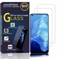"""Realme 7 5G 6.5"""" RMX2111 (non compatible Realme 7 Pro/ 7/ 7i): Lot / Pack de 2 Films de protection d'écran Verre Trempé"""