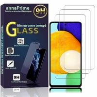 """Samsung Galaxy A52/ A52 4G/ A52 5G 6.5"""" SM-A525F A525F/DS A525M A525M/DS A526B A526B/DS A5260 A526W: Lot / Pack de 3 Films de protection d'écran Verre Trempé"""