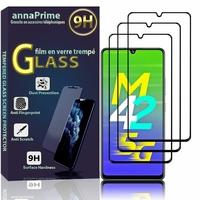 """Samsung Galaxy M42 5G 6.6"""" SM-M426B SM-M426B/DS [Les Dimensions EXACTES du telephone: 164.4 x 75.9 x 8.6 mm]: Lot / Pack de 3 Films de protection d'écran Verre Trempé"""