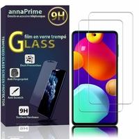 """Samsung Galaxy M62/ Galaxy F62 6.7"""" SM-M625F SM-M625F/DS SM-E625F SM-E625F/DS [Les Dimensions EXACTES du telephone: 163.9 x 76.3 x 9.5 mm]: Lot / Pack de 2 Films de protection d'écran Verre Trempé"""